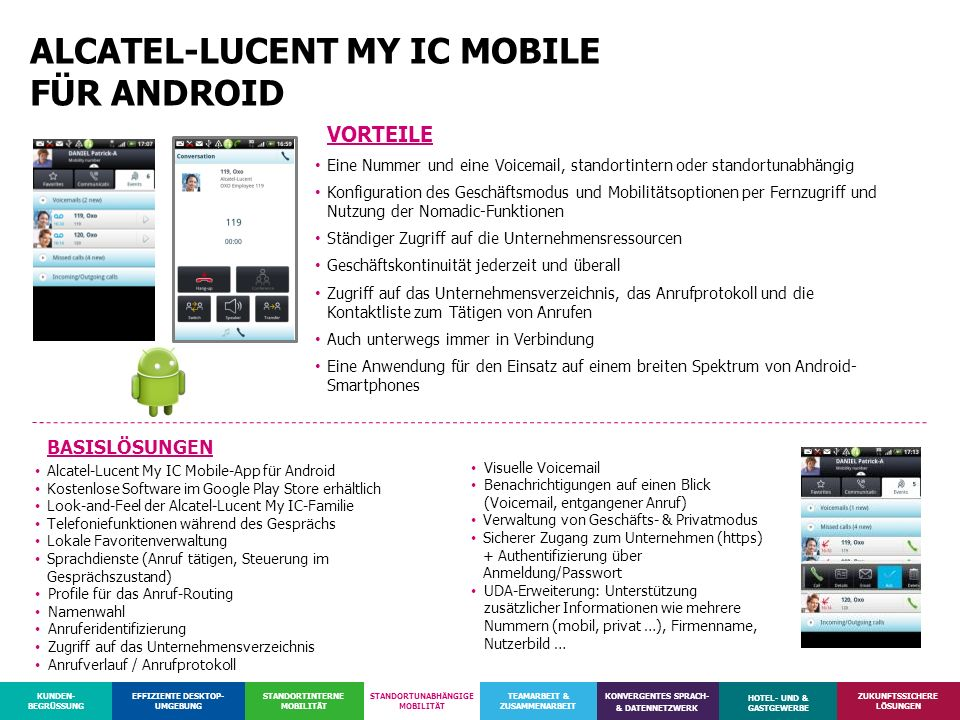 ALCATEL-LUCENT MY IC MOBILE FÜR ANDROID
