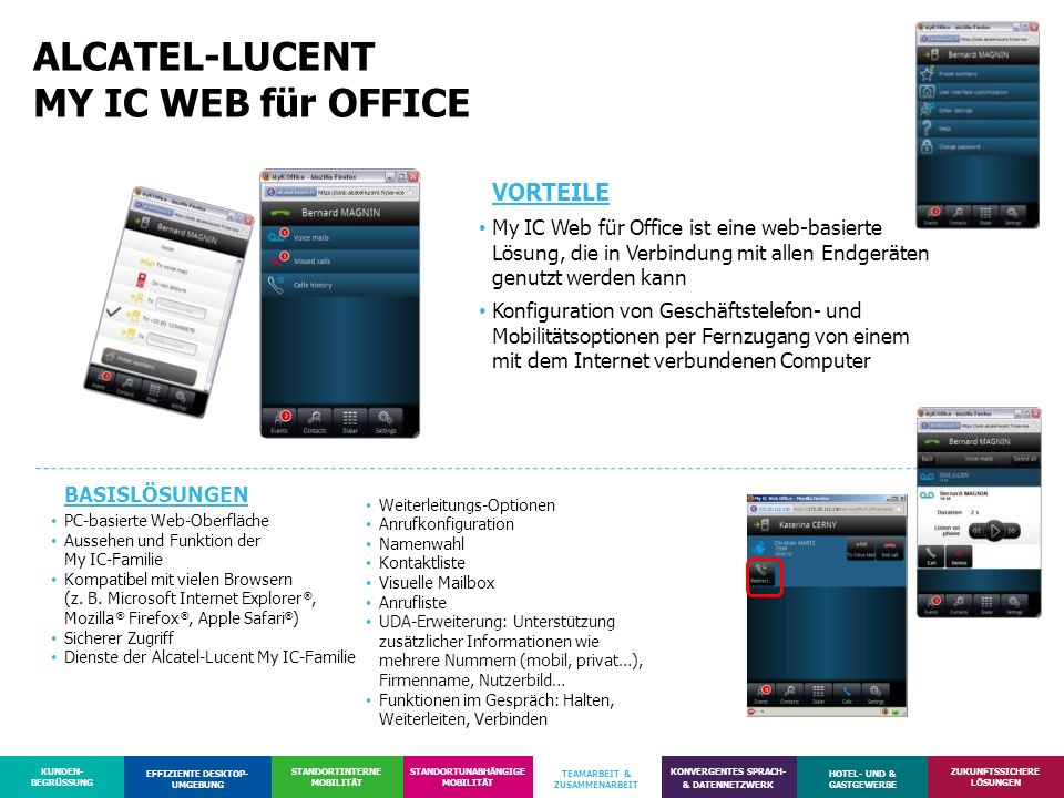 ALCATEL-LUCENT MY IC WEB für OFFICE