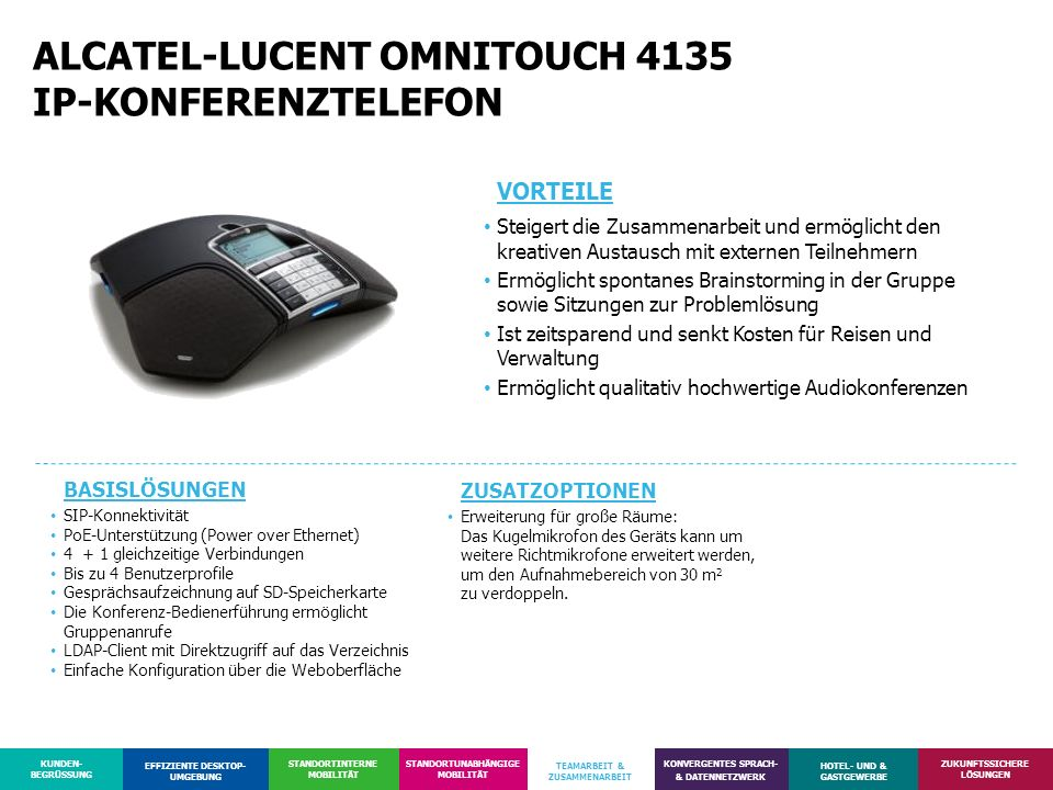 ALCATEL-LUCENT OMNITOUCH 4135 IP-KONFERENZTELEFON