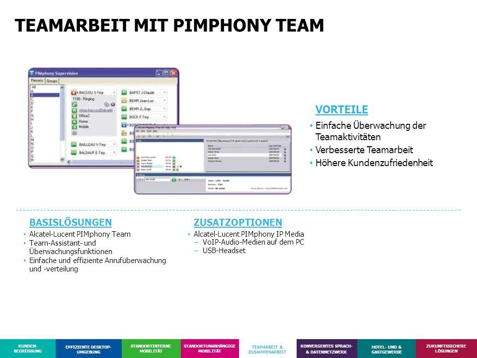 TEAMARBEIT MIT PIMPHONY TEAM