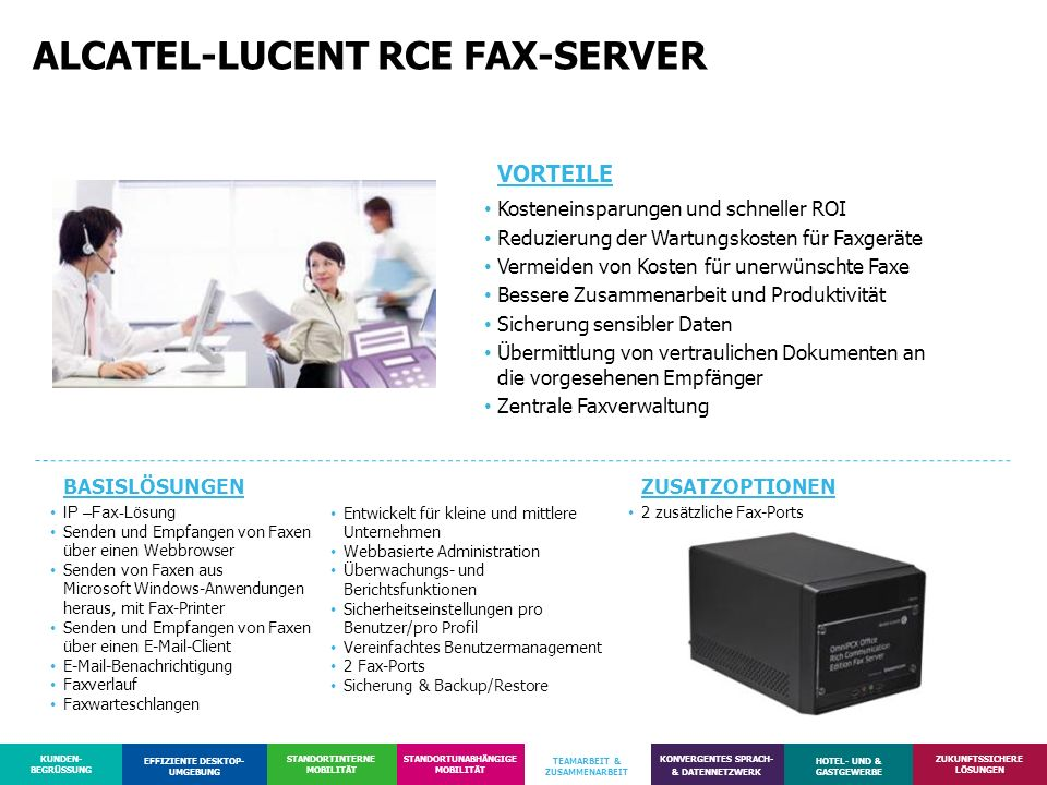 ALCATEL-LUCENT RCE FAX-SERVER