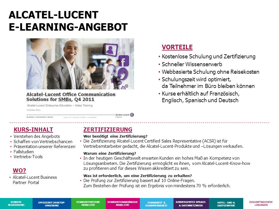 ALCATEL-LUCENT E-LEARNING-ANGEBOT