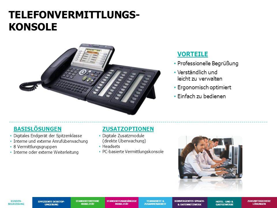 TELEFONVERMITTLUNGS- KONSOLE