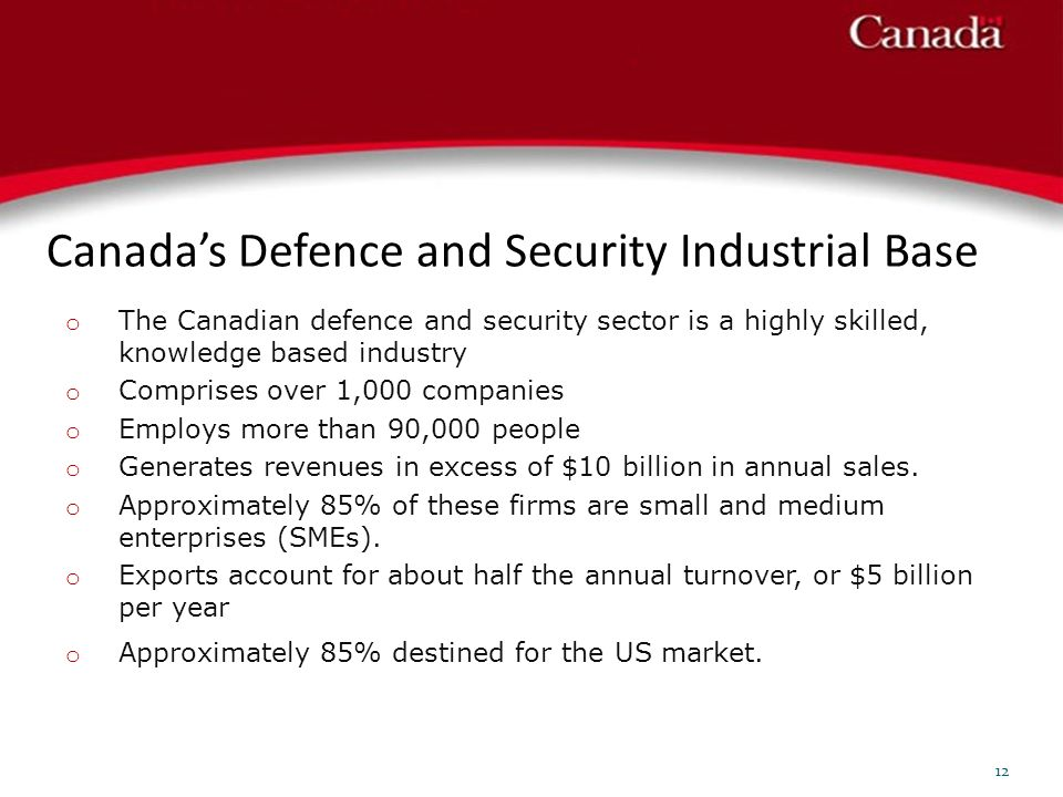 Canada's Defence and Security Industrial Base
