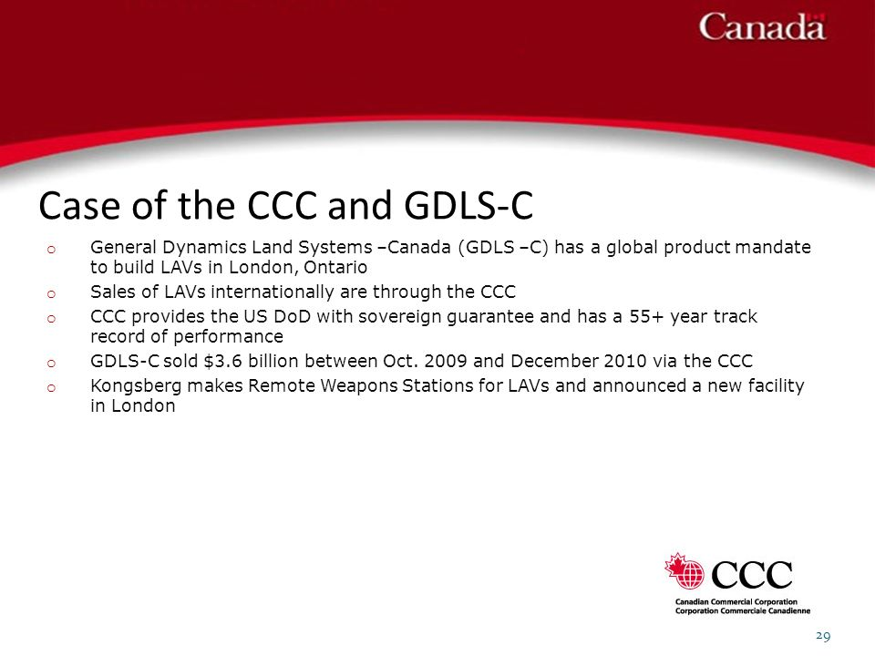 Case of the CCC and GDLS-C