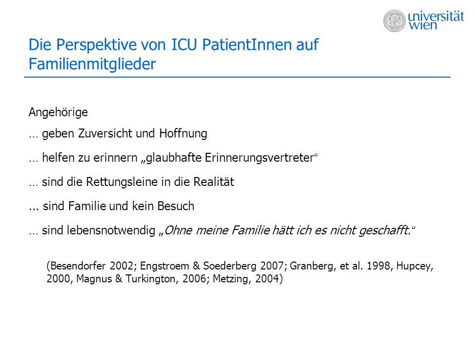 Die Perspektive von ICU PatientInnen auf Familienmitglieder
