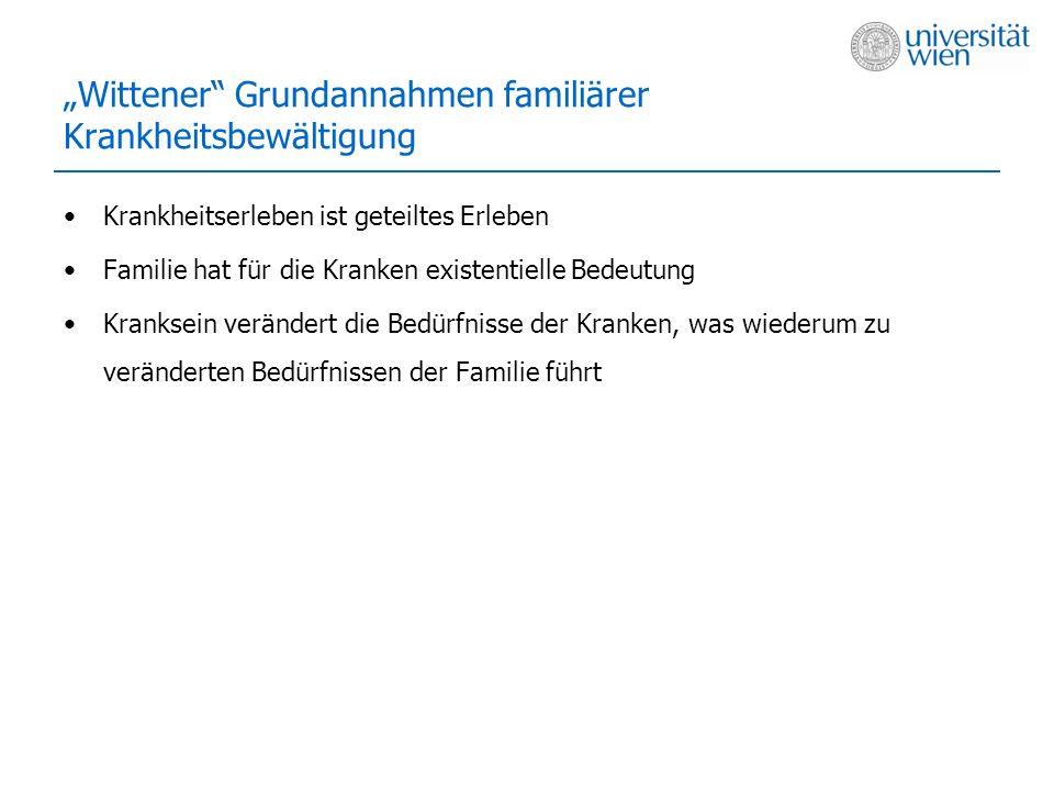 """Wittener Grundannahmen familiärer Krankheitsbewältigung"