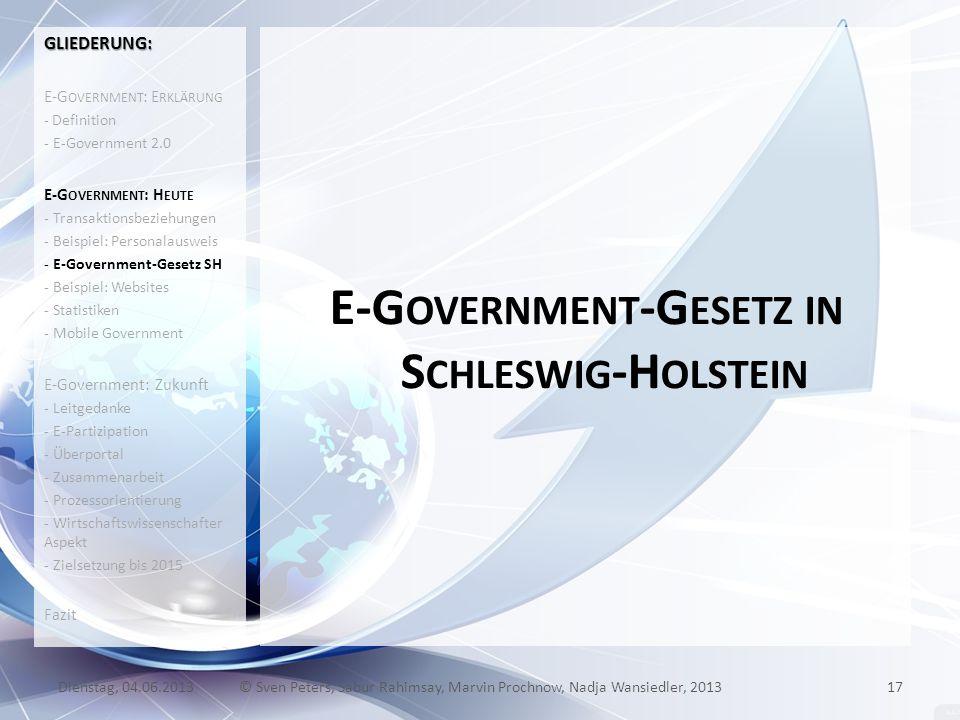 E-Government-Gesetz in Schleswig-Holstein