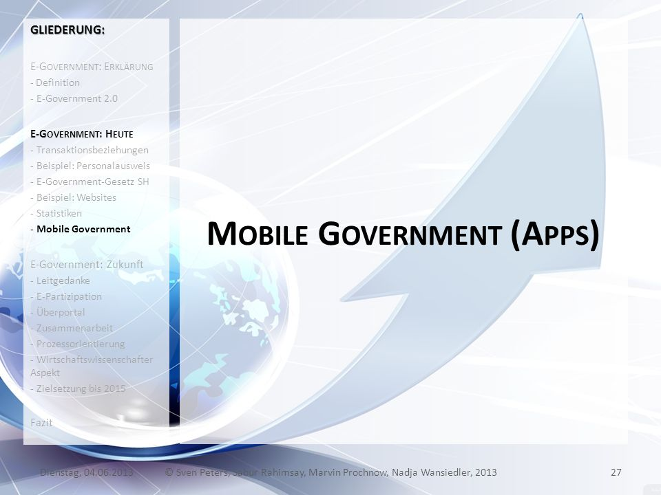 Mobile Government (Apps)