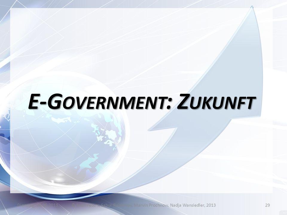 E-Government: Zukunft