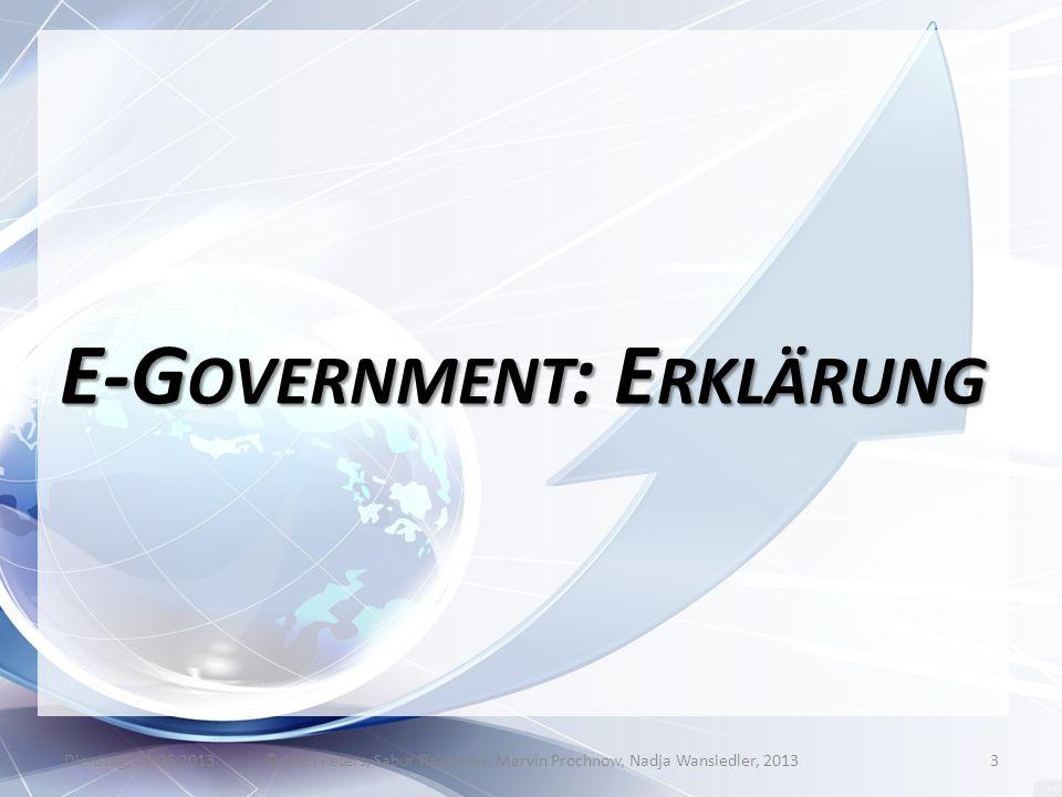 E-Government: Erklärung