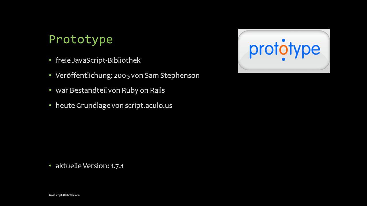 Prototype freie JavaScript-Bibliothek