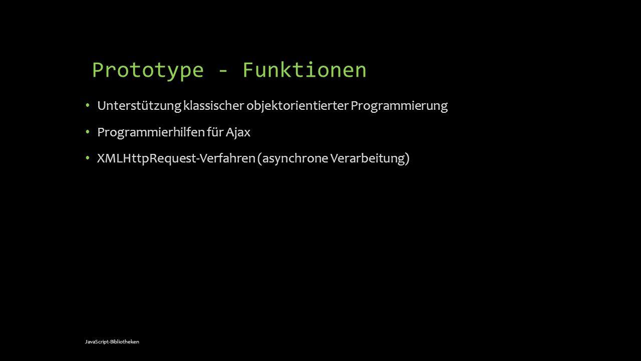 Prototype - Funktionen
