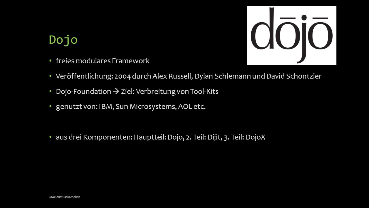 Dojo freies modulares Framework