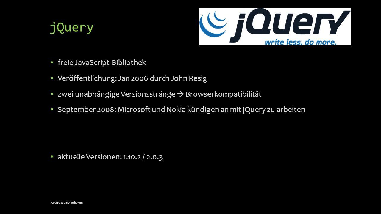 jQuery freie JavaScript-Bibliothek