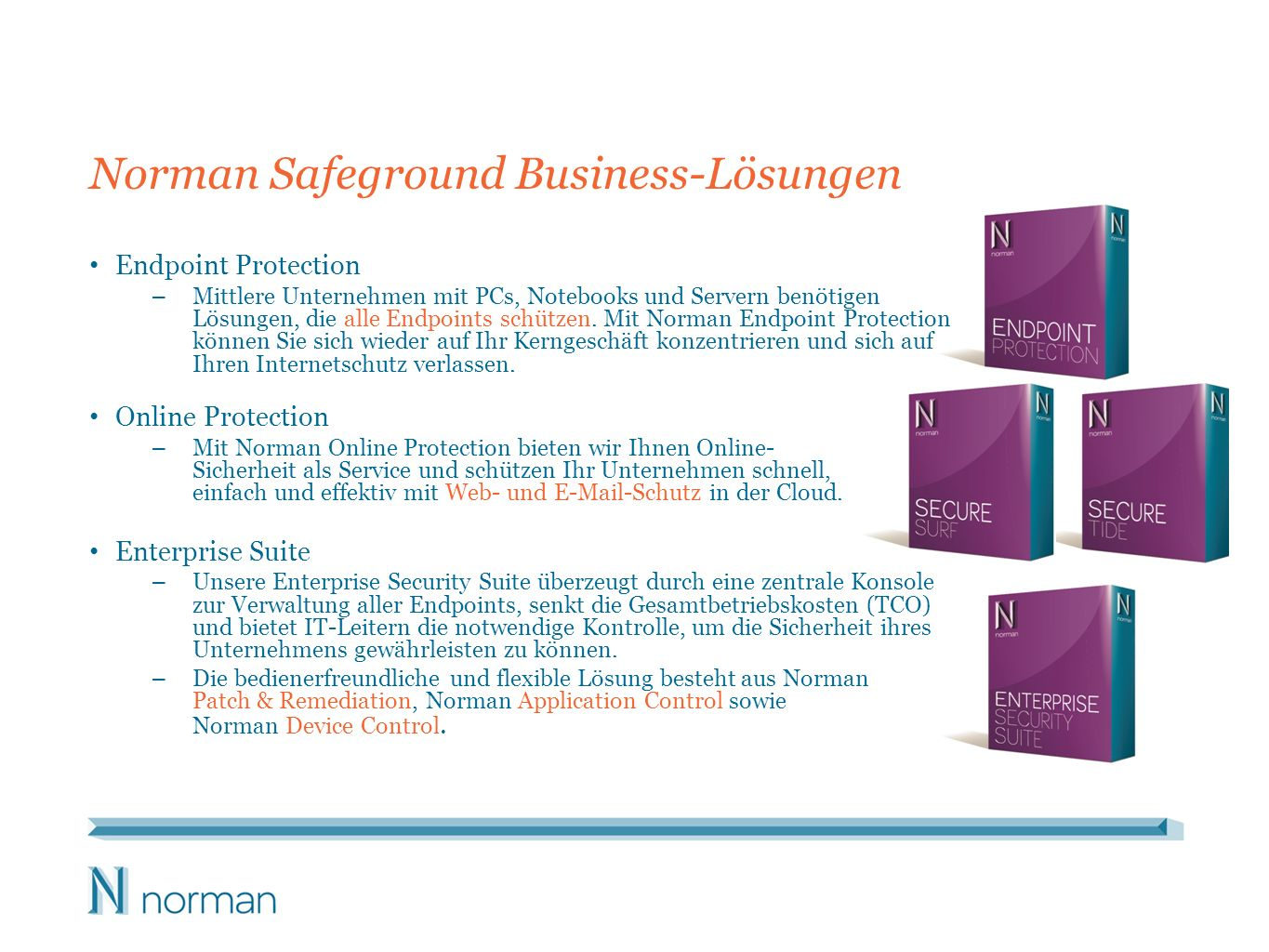 Norman Safeground Business-Lösungen