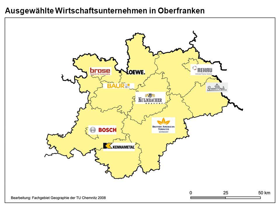 Ausgewählte Wirtschaftsunternehmen in Oberfranken