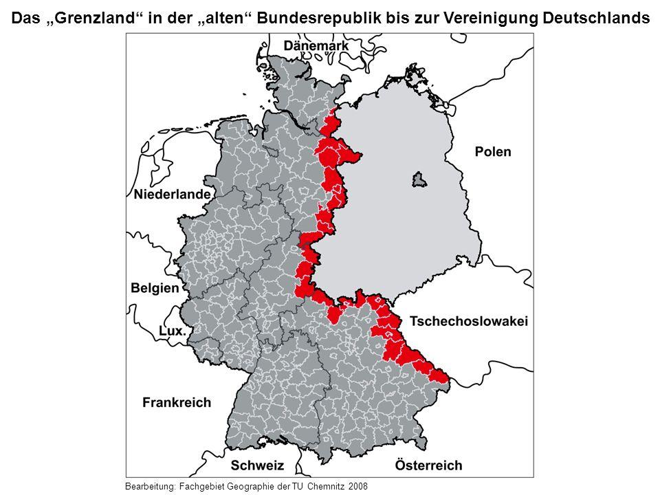 """Das """"Grenzland in der """"alten Bundesrepublik bis zur Vereinigung Deutschlands"""