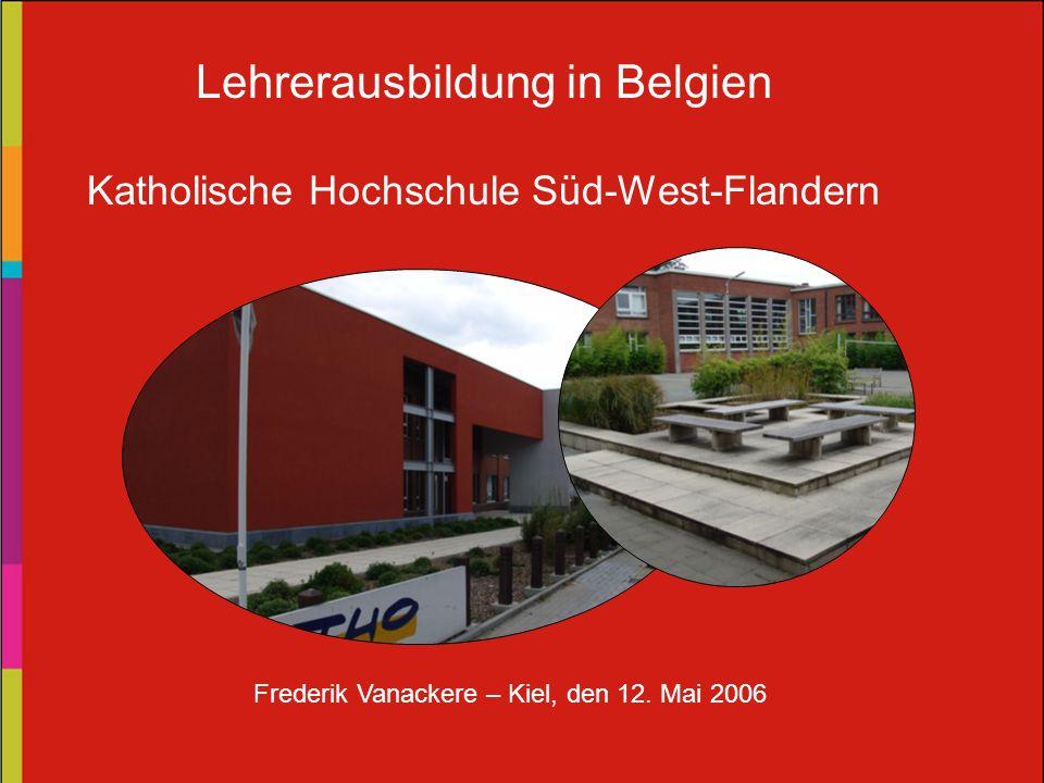 Lehrerausbildung in Belgien
