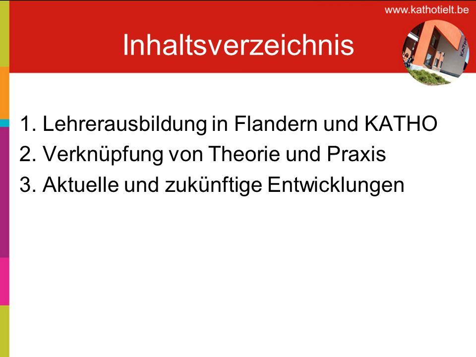 Inhaltsverzeichnis 1. Lehrerausbildung in Flandern und KATHO
