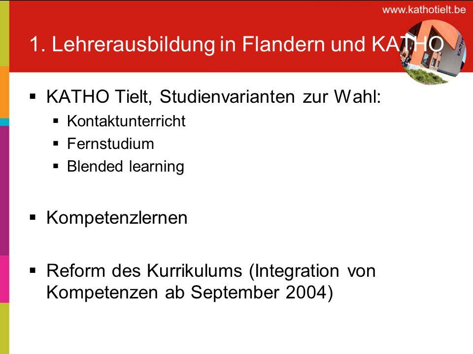 1. Lehrerausbildung in Flandern und KATHO