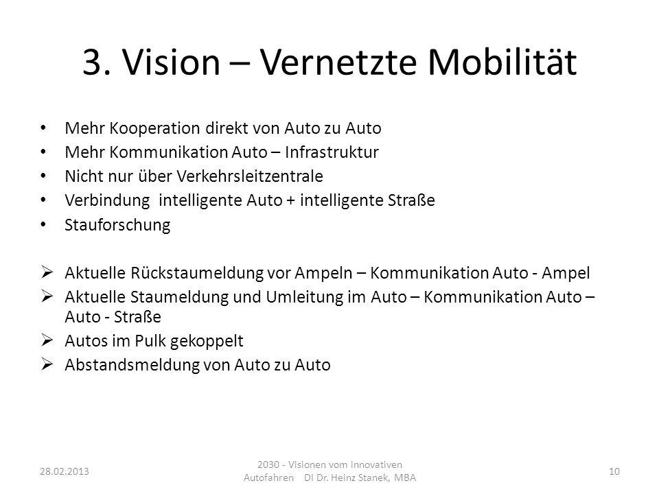 3. Vision – Vernetzte Mobilität