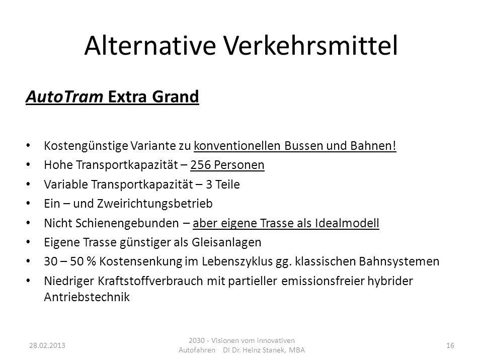 Alternative Verkehrsmittel