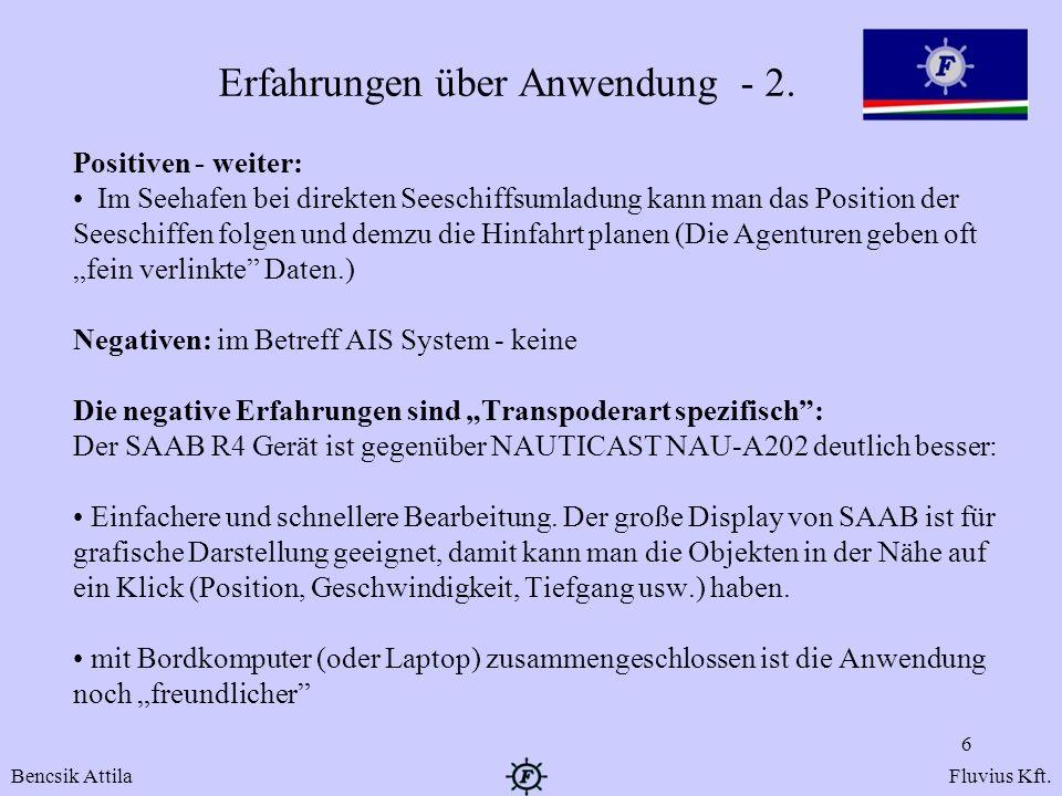 Erfahrungen über Anwendung - 2.