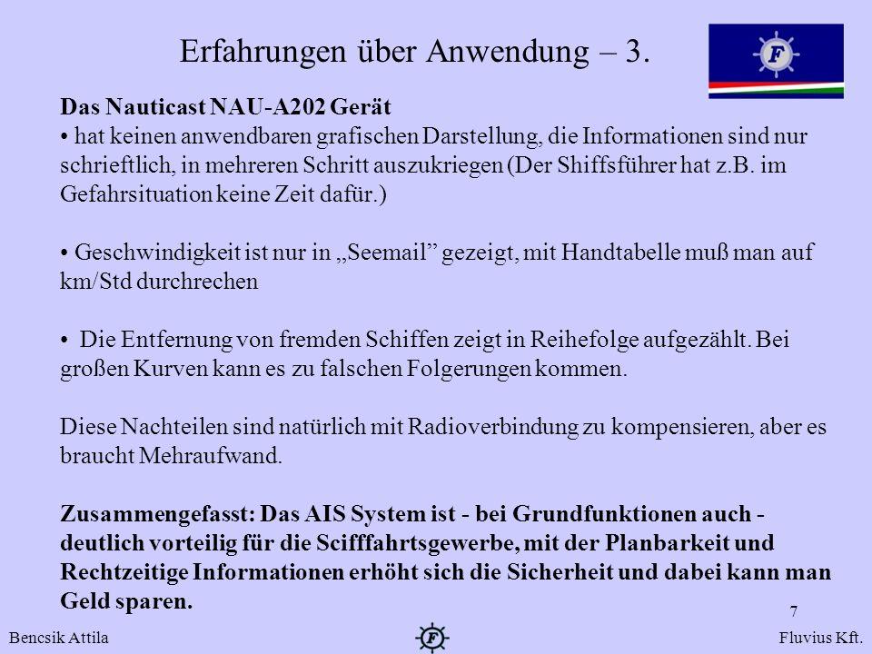 Erfahrungen über Anwendung – 3.