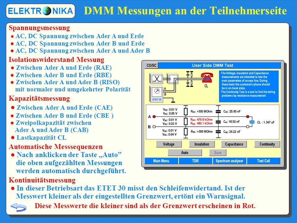 DMM Messungen an der Teilnehmerseite
