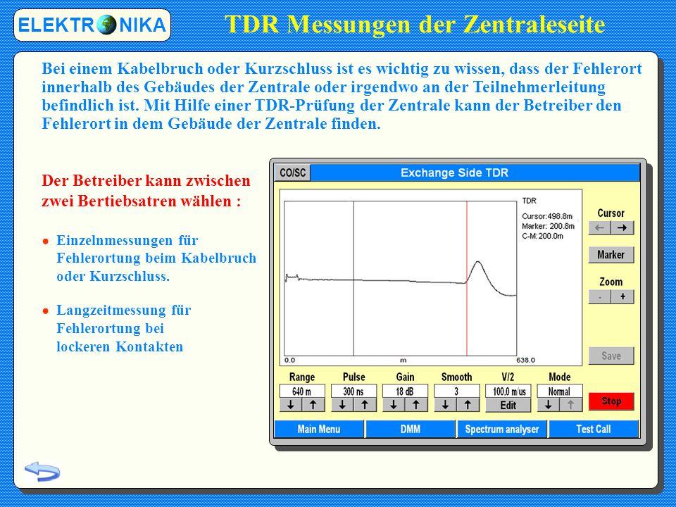 TDR Messungen der Zentraleseite