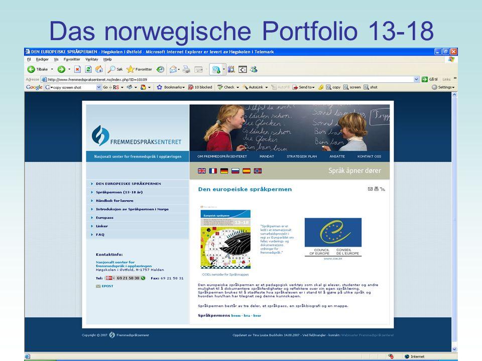 Das norwegische Portfolio 13-18