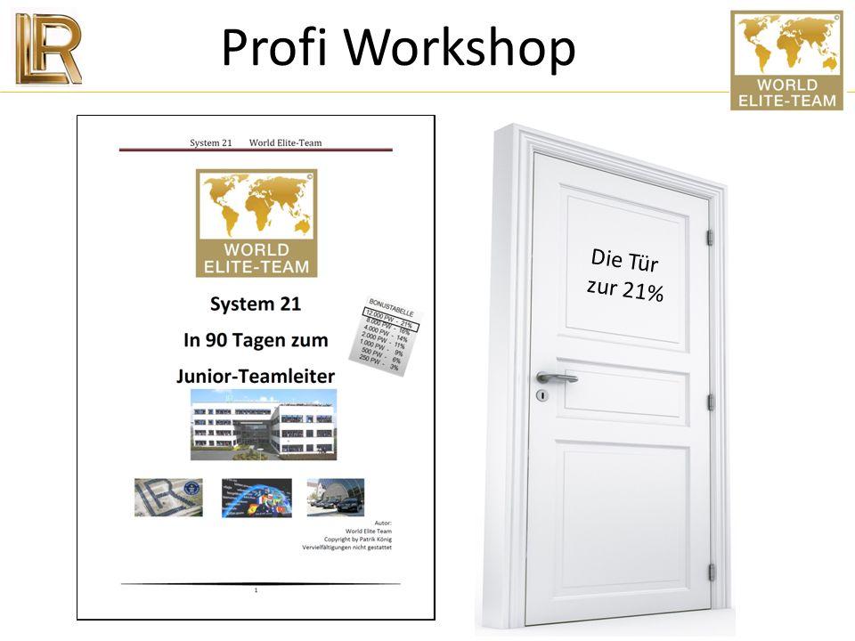 Profi Workshop Die Tür zur 21%