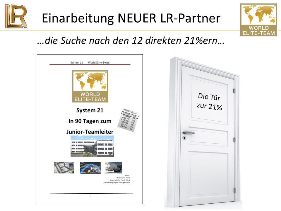 Einarbeitung NEUER LR-Partner