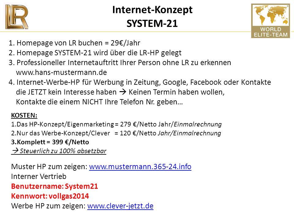 Internet-Konzept SYSTEM-21