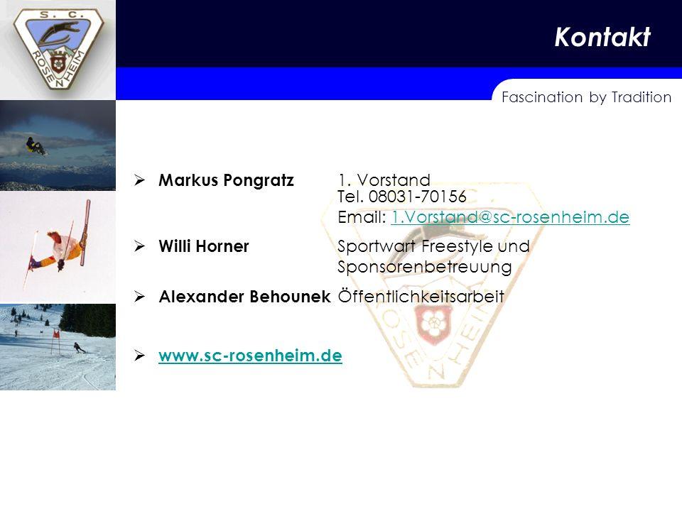 Kontakt KONTAKT Markus Pongratz 1. Vorstand Tel. 08031-70156