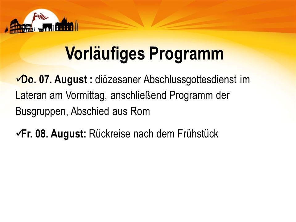 Vorläufiges Programm