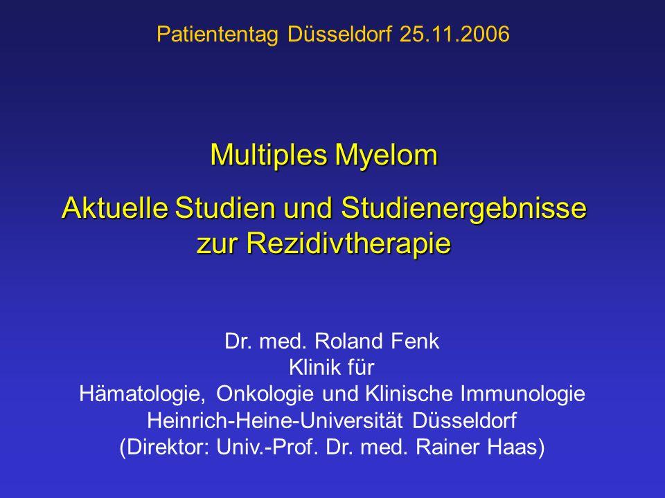 Aktuelle Studien und Studienergebnisse zur Rezidivtherapie