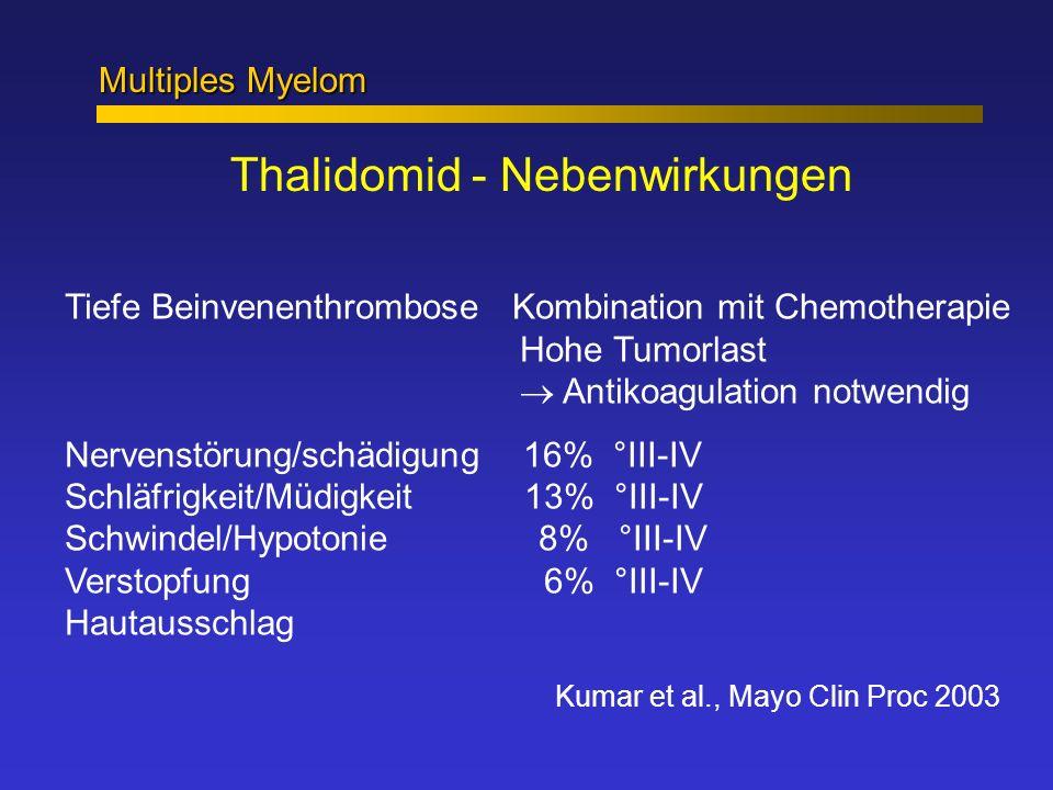 Thalidomid - Nebenwirkungen
