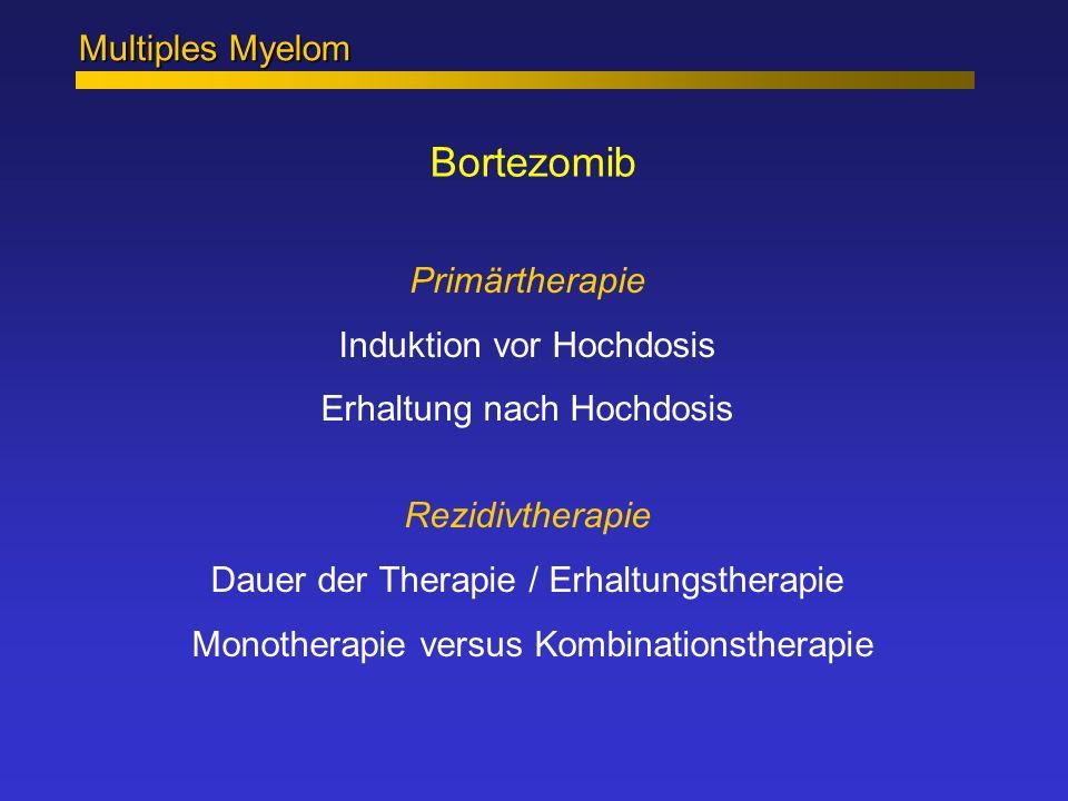 Bortezomib Multiples Myelom Primärtherapie Induktion vor Hochdosis
