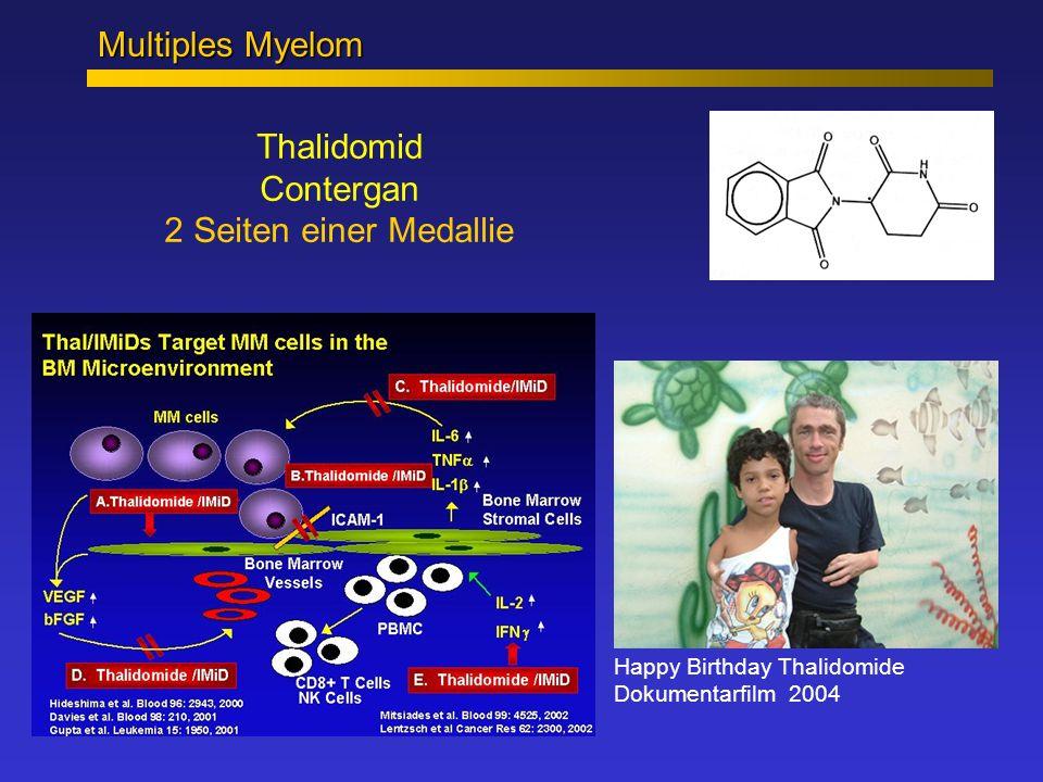 Thalidomid Contergan 2 Seiten einer Medallie