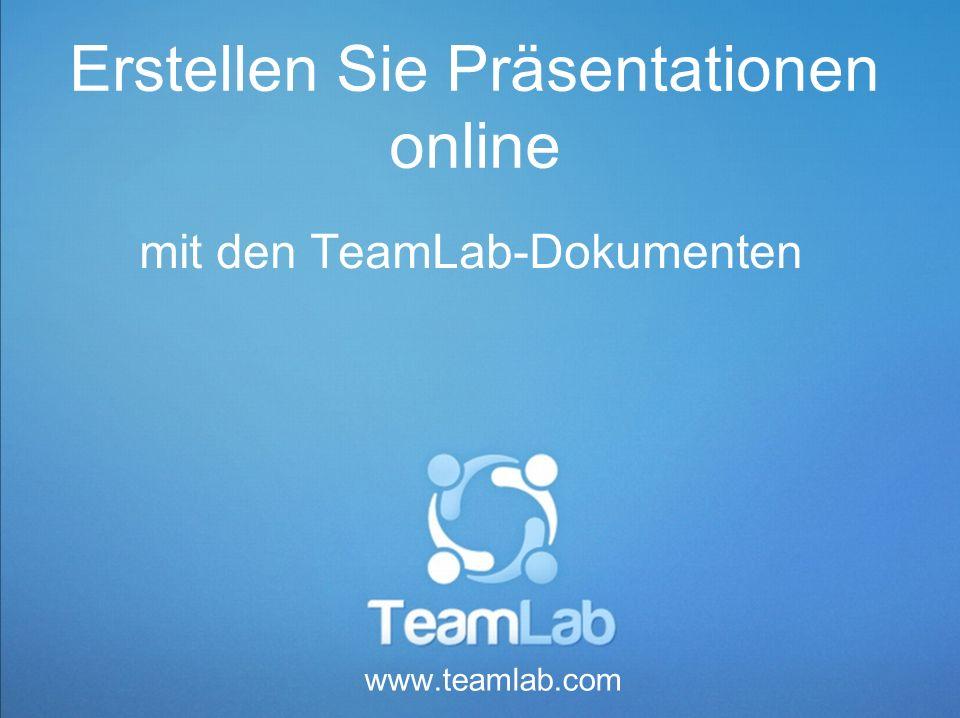 Erstellen Sie Präsentationen online