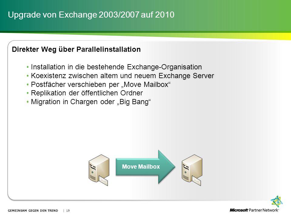 Upgrade von Exchange 2003/2007 auf 2010