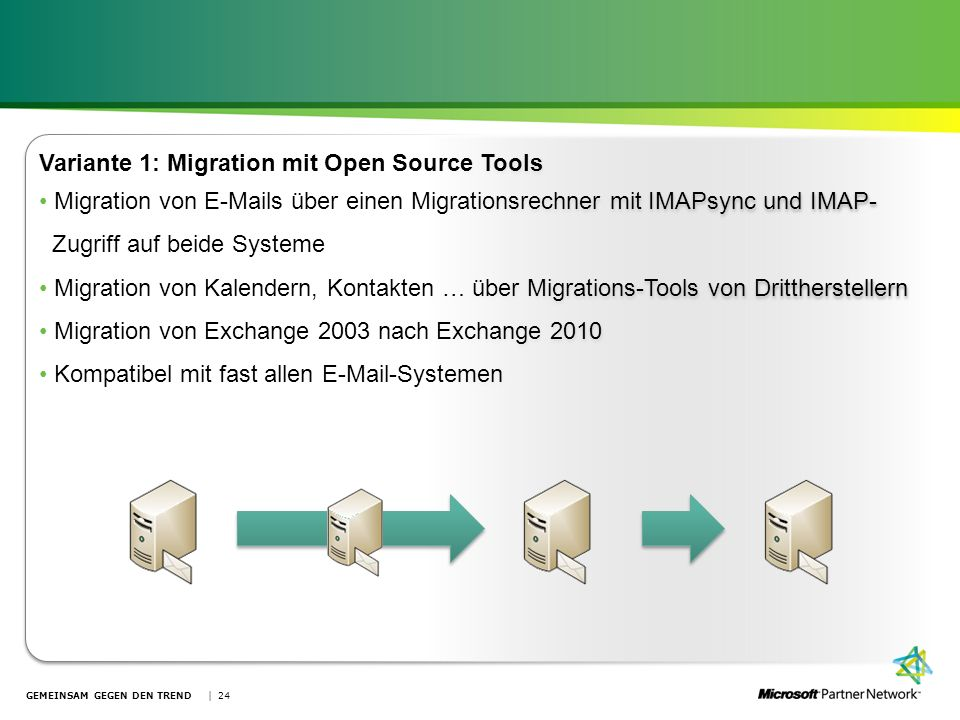 Variante 1: Migration mit Open Source Tools