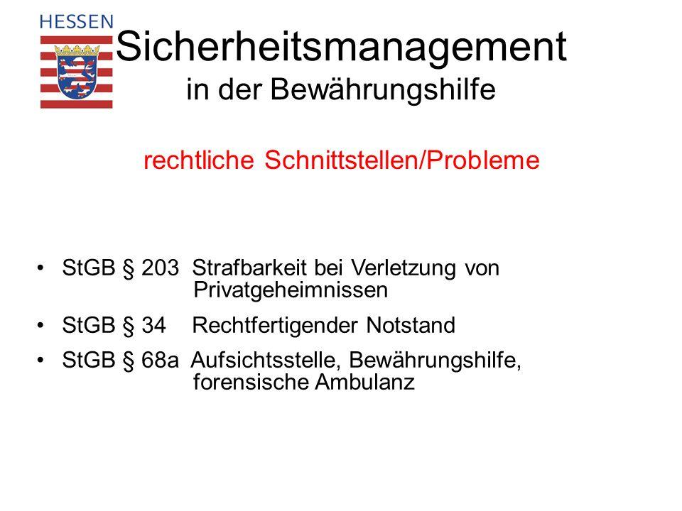 Sicherheitsmanagement in der Bewährungshilfe