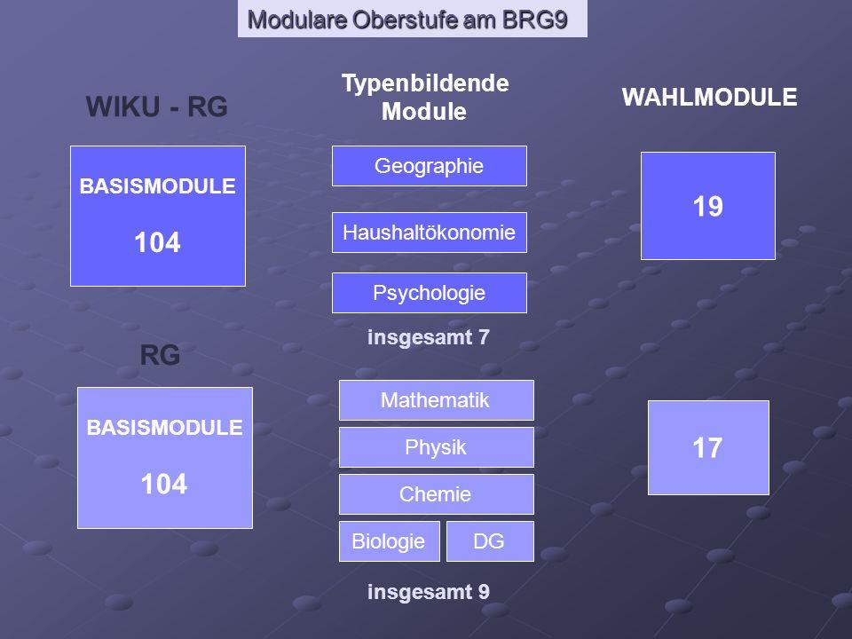 WIKU - RG 19 104 RG 17 104 Typenbildende Module WAHLMODULE BASISMODULE