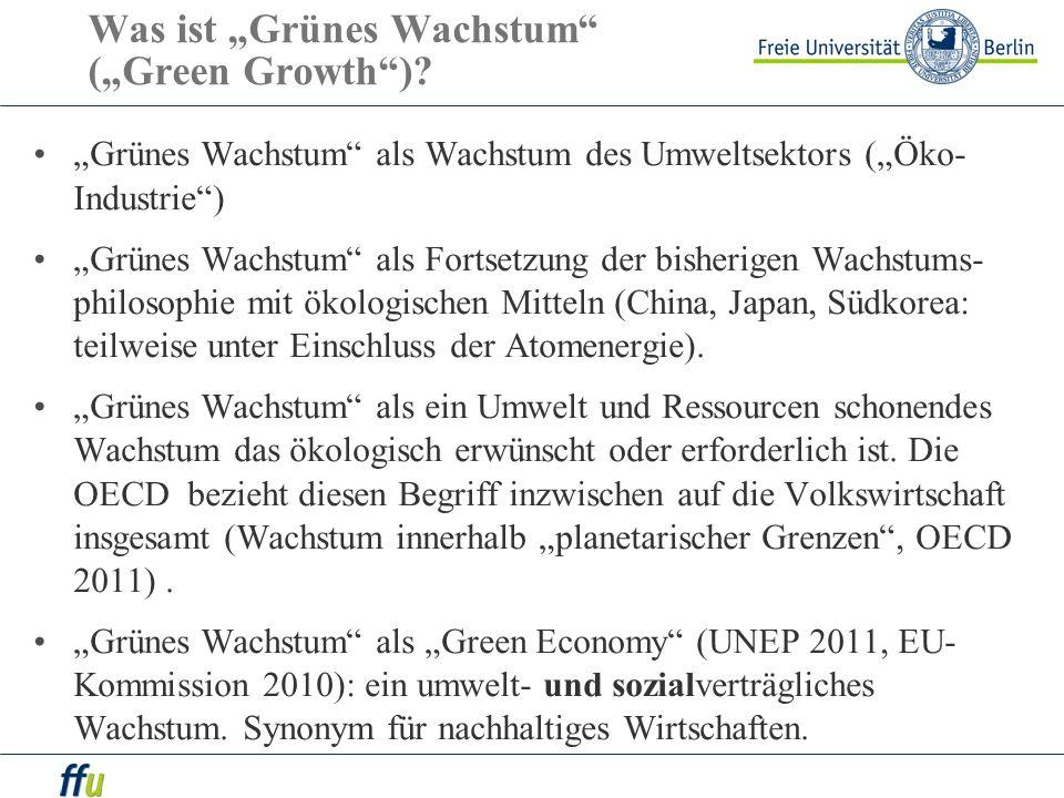 """Was ist """"Grünes Wachstum (""""Green Growth )"""