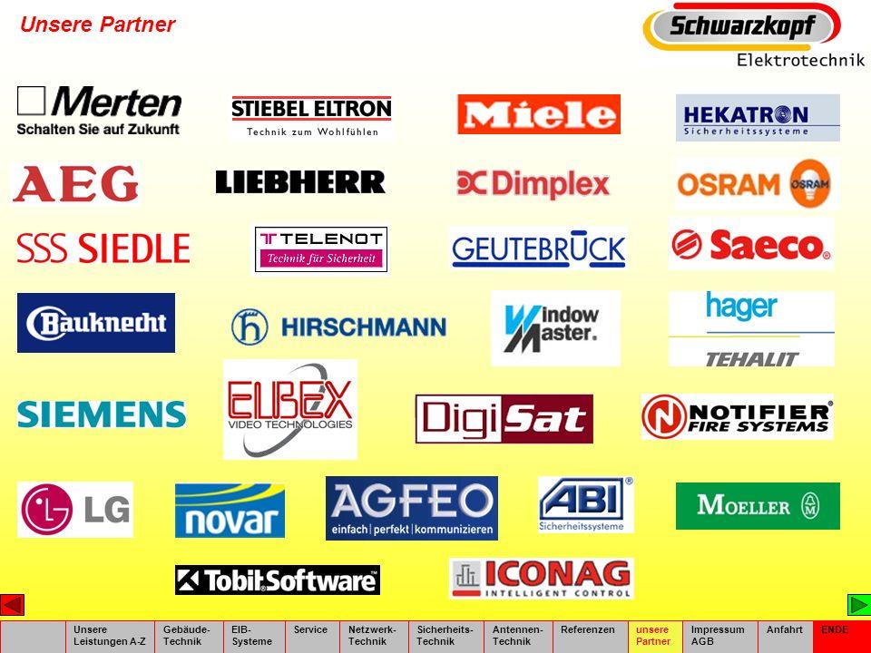 Unsere Partner Unsere Leistungen A-Z Gebäude- Technik EIB- Systeme
