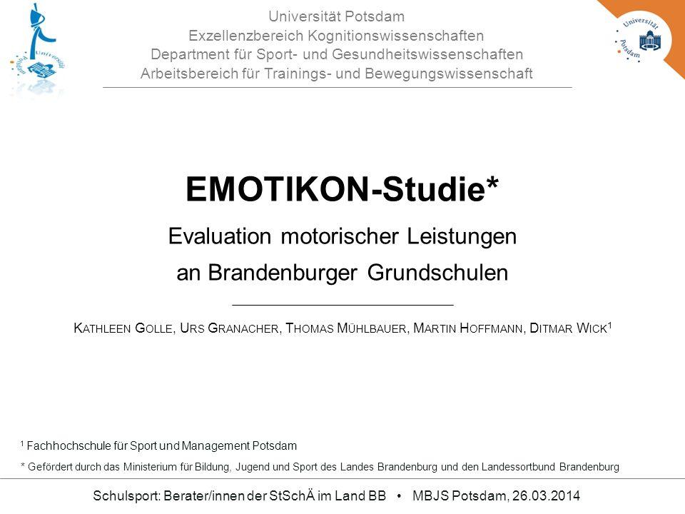 EMOTIKON-Studie* Evaluation motorischer Leistungen