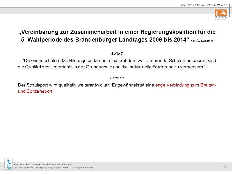 """""""Vereinbarung zur Zusammenarbeit in einer Regierungskoalition für die 5. Wahlperiode des Brandenburger Landtages 2009 bis 2014 (in Auszügen)"""
